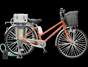 自転車搭載型緊急浄水装置